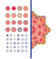 rich pattern set vector image