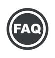 Round black FAQ sign vector image