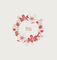 round floral frame with a flat design vector image