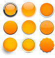 Round orange icons vector image vector image
