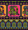 seamless aztec pattern mexican ornamental vector image
