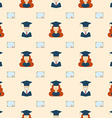 Seamless Graduation Celebration Educational vector image