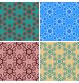 seamless hexagon pattern set vector image vector image