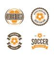 set football or soccer club logo set vector image vector image