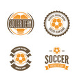 set of football or soccer club logo set vector image vector image