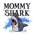 shark t shirt 004 vector image vector image