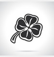 silhouette clover vector image