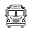 silhouette school bus design vector image