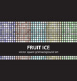 square pattern set fruit ice seamless geometric vector image vector image