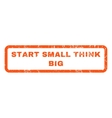 Start Small Think Big Rubber Stamp vector image vector image