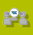 sticker vkontakte icon on background vector image vector image