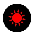 Sun sign Red icon vector image vector image