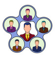 team management icon cartoon vector image