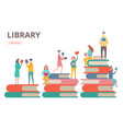 time to read concept library self vector image