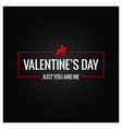 valentines day logo border background vector image vector image