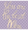 Vintage card you are the best Mom vector image vector image