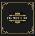 vintage frame border ornament and vignettes swirls vector image