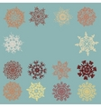 vintage snowflakes card eps 8 vector image vector image