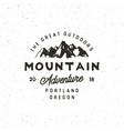 vintage wilderness logo hand drawn retro styled vector image