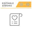 wishlist editable stroke line icon vector image