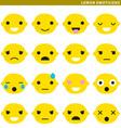lemon emoticons vector image