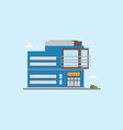 modern low-rise police station building front view vector image