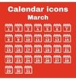 The calendar icon March symbol Flat vector image