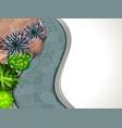 a frame garden vector image vector image