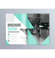 abstract brochure design template in a4 size vector image vector image