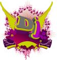 abstract dj splash music background vector image vector image