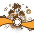 abstract summer frame palm trees vector image vector image