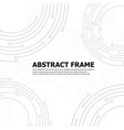 abstract technology round frame vector image vector image