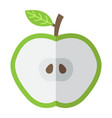 apple cut flat icon food and drink half sign vector image vector image