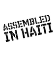 Assembled in Haiti rubber stamp vector image vector image