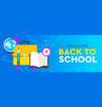 back to school promo horizontal banner for poster vector image vector image