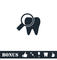 Bacteria on Tooth icon flat vector image