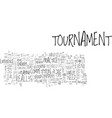 beginners tournament tips text word cloud concept vector image vector image