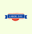 big sale labor day logo flat style vector image
