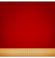 Brown wood floor with red chinese style background vector image vector image