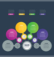 business infographics concept with 4 options info vector image