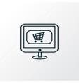 buy online icon line symbol premium quality vector image vector image