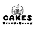 cakes cover for cafe sketch concept vector image