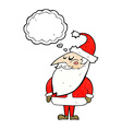 cartoon santa claus with thought bubble vector image vector image