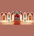 castle throne hall interior royal vector image vector image