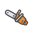 chainsaw sawing tool icon cartoon vector image