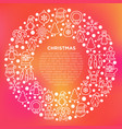 christmas concept in circle with thin line icons vector image vector image