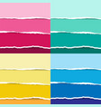 colorful and pastel torn paper set vector image vector image