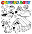 coloring book with cute dogs vector image vector image