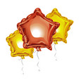 composition of realistic 3d foil balloons in the vector image vector image