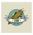 corn vintage set labels emblems or logo vector image vector image